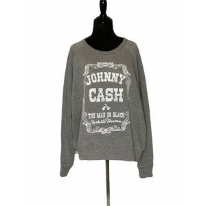Let Luv gray Johnny Cash Sweater XL